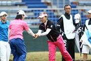 2012年 サイバーエージェント レディスゴルフトーナメント 初日 有村智恵 不動裕理 大江香織