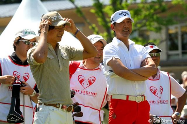 石川遼は中井貴一と初ラウンド。日本を代表する名優とのラウンドは貴重な経験となった様子
