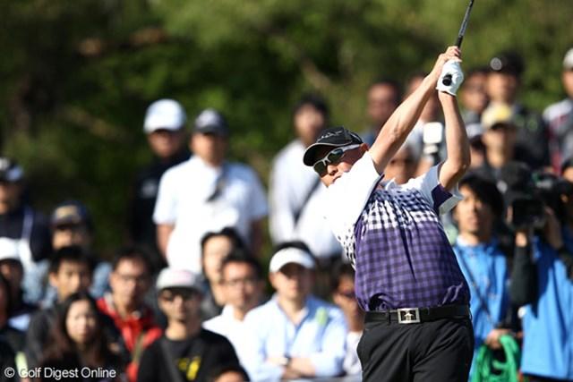 2012年 日本プロゴルフ選手権大会 日清カップヌードル杯 3日目 谷口徹 3日間トップを守り続けている谷口徹。苦しみながら完全優勝に王手をかけた。