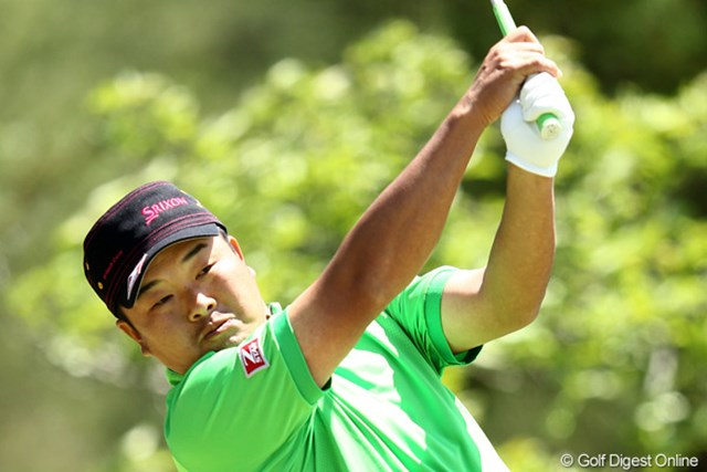 2012年 日本プロゴルフ選手権大会 日清カップヌードル杯 3日目 小田孔明 小田孔明はショットが冴えわたり急浮上。持ち前の風に強いボールを打ち続けた。
