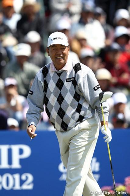 2012年 日本プロゴルフ選手権大会 日清カップヌードル杯 3日目 室田淳 1オーバーながらおじさんゴルファー頑張ってます。