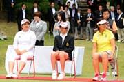 2012年 フンドーキンレディース 最終日 (左から)朴仁妃、森田遥、全美貞