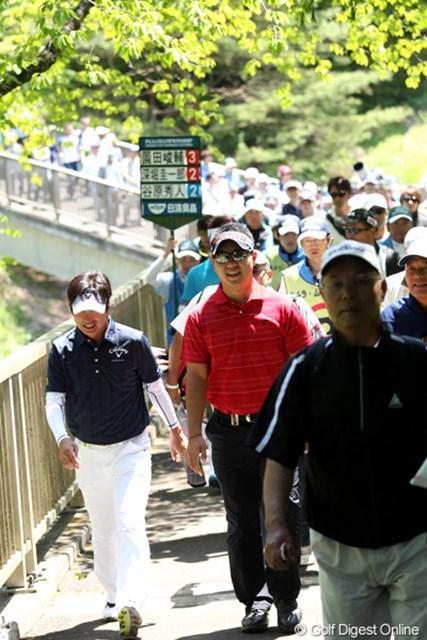 2012年 日本プロゴルフ選手権大会 日清カップヌードル杯 最終日 深堀圭一郎、薗田峻輔、谷原秀人  この組、展開が面白そう?