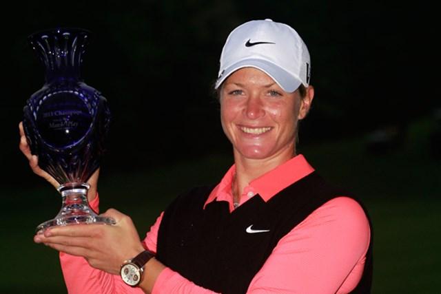 昨年、クリスティ・カーに競り勝ちマッチプレーの頂上に立ったスーザン・ペターセン(Chris Trotman /Getty Images)