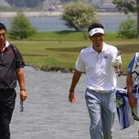 プロアマ戦ではテレビ解説を担当する加瀬秀樹がついて歩いた 2012年 とおとうみ浜松オープン 事前情報 小林正則