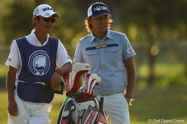 2012年 とおとうみ浜松オープン 2日目 岩田寛 2日目もイライラを抑えてラウンドした岩田寛だが、首位と2打差の2位タイ