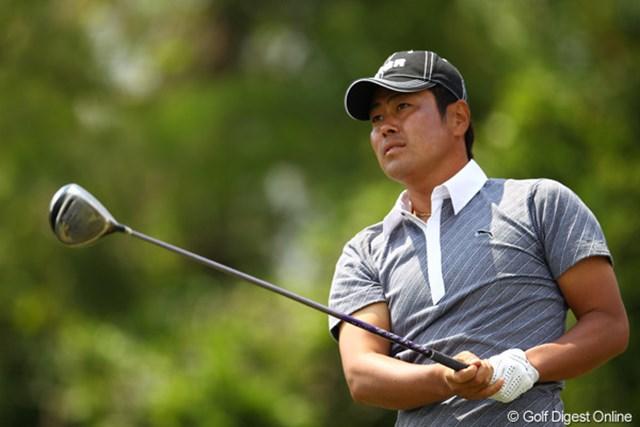 2012年 とおとうみ浜松オープン 2日目 谷原秀人 ゴルフは好調を維持してますが、体調はイマイチのようです。