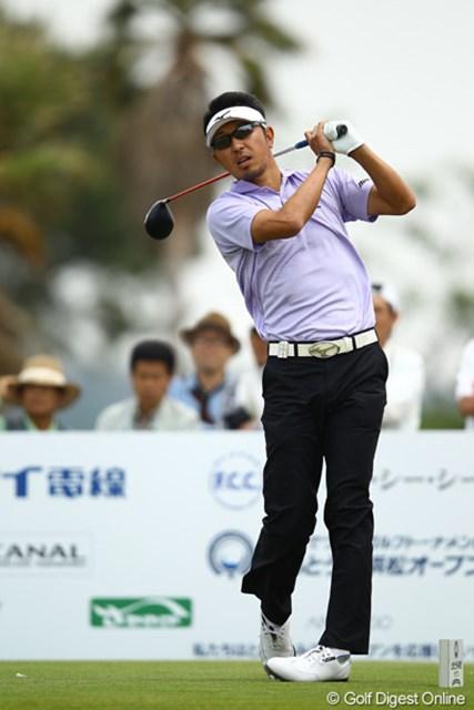 2012年 とおとうみ浜松オープン 2日目 小林正則 ディフェンディングチャンピオンはまさかの82。残念ながら予選落ちでした。