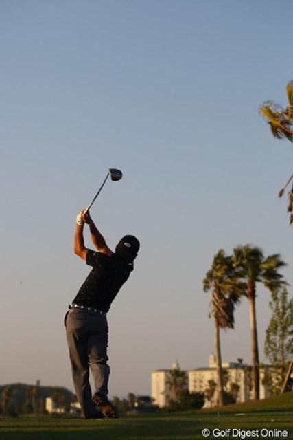 2012年 とおとうみ浜松オープン 2日目 藤本佳則 やっぱり、天気の良い日の夕方のゴルフ場は綺麗ですねぇ。
