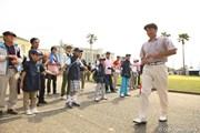 2012年 とおとうみ浜松オープン 3日目 横尾要 ボランティアの子供たち