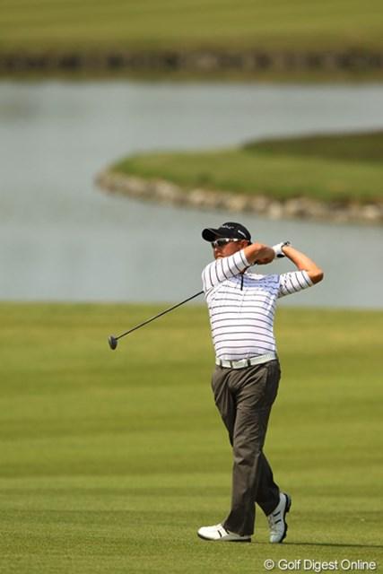 2012年 とおとうみ浜松オープン 3日目 谷口徹 今日はさすがメジャーチャンプの実力を見せつけるゴルフでしたね。