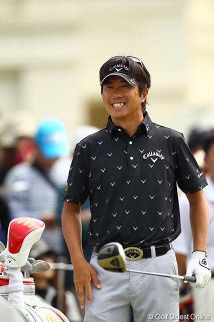 2012年 とおとうみ浜松オープン 3日目 深堀圭一郎 今大会発起人の深堀さんも好スコアをマークして笑顔です。