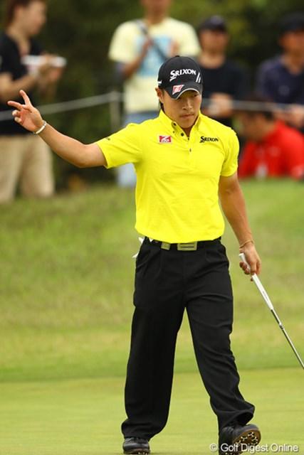2012年 とおとうみ浜松オープン 最終日 藤本佳則 前半は危なげないゴルフに見えました。