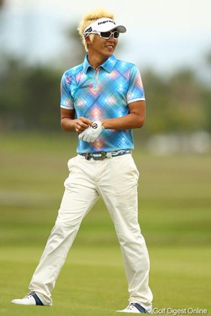 2012年 とおとうみ浜松オープン 最終日 ジェイ・チョイ 緊張は全くなく、楽しんでのラウンドだったそうです。ゴルフは楽しんだもん勝ちですかね?
