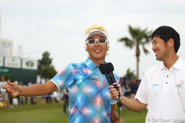 2012年 とおとうみ浜松オープン 最終日 ジェイ・チョイ やや緊張気味でしたかね。それにしても日本語が流暢です。