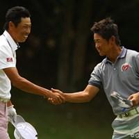 同組で両者共にナイスラウンドでした。 2012年 ダイヤモンドカップゴルフ 初日 藤田寛之&兼本貴司