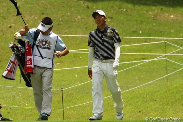 女子プロゴルファー笠りつ子の実兄です。今週がプロデビュー戦です。