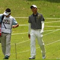女子プロゴルファー笠りつ子の実兄です。今週がプロデビュー戦です。 2012年 ダイヤモンドカップゴルフ 初日 笠哲郎