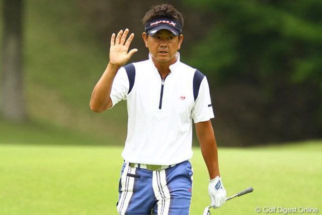 2012年 ダイヤモンドカップゴルフ 2日目 藤田寛之 2日間で14バーディ…連日のビッグスコアで一気に単独首位に躍り出た藤田寛之。