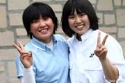 2012年 ヨネックスレディスゴルフトーナメント 初日 永井花奈(左)&キャディさん