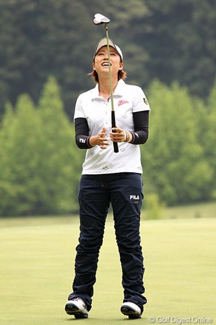 2012年 ヨネックスレディスゴルフトーナメント 初日 原江里菜 バーディパット?そうです、外してしまったんです。