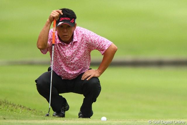 2012年 ダイヤモンドカップゴルフ 2日目 宮瀬博文 昨年末にシード権を喪失した宮瀬博文だが、地元大会で飛躍を狙う。
