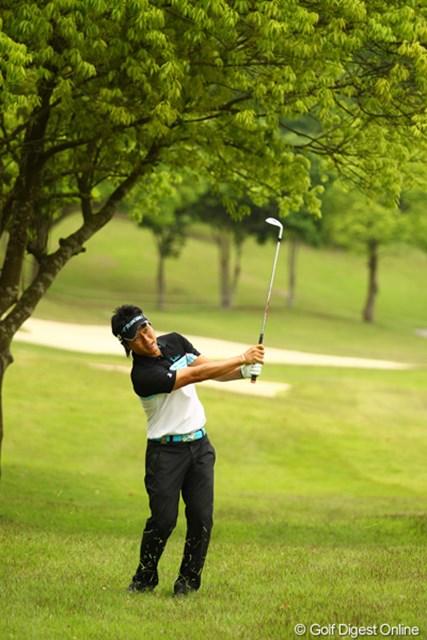 2012年 ダイヤモンドカップゴルフ 2日目 宮本勝昌 明日はお子さんの運動会だそうです。参加できないのは嬉しい悲鳴と言ったところでしょうか。