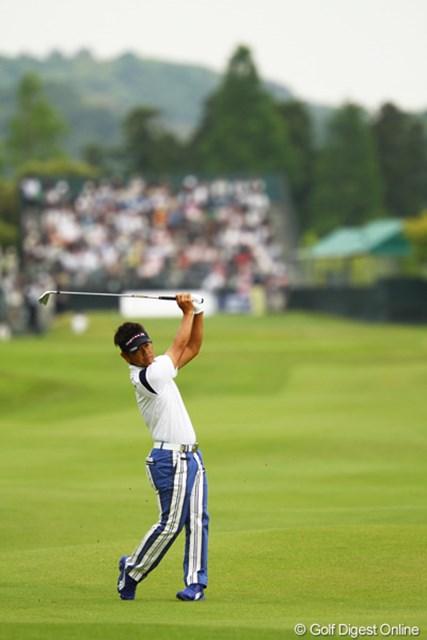 2012年 ダイヤモンドカップゴルフ 2日目 藤田寛之 アイアンショットは怖いぐらいキレキレでしたね。