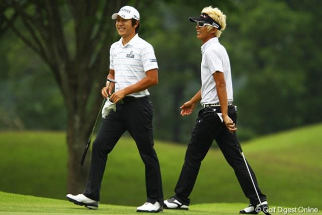 2012年 ダイヤモンドカップゴルフ 2日目 ジェイ・チョイ&キム・キョンテ キム・キョンテはジェイ・チョイと楽しげにラウンドしてましたが、スコアを伸ばせず8位タイに後退。