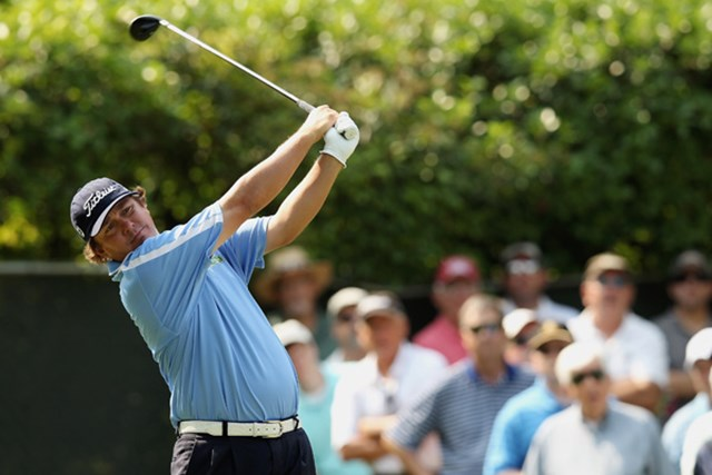 2012年 クラウンプラザインビテーショナル 2日目 ジェイソン・ダフナー J.ダフナーが単独首位に浮上!2週連続優勝に大きく前進した (Scott Halleran/Getty Images)