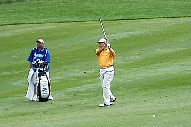 2012年 全米シニアプロ選手権 2日目 室田淳 日本勢でただ1人決勝ラウンド進出を果たした室田淳。19位タイとまだまだ上位を狙える位置だ ※画像提供:日本プロゴルフ協会