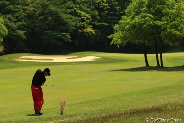 男子ツアーを初めて開催するザ・カントリークラブ・ジャパン。戦略的で頭が疲れそうなコースです。勇太はジュニア時代から慣れ親しんでます。