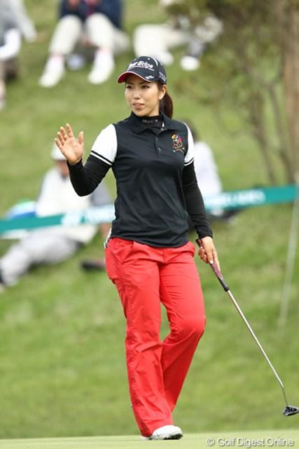 2012年 ヨネックスレディスゴルフトーナメント 2日目 笠りつ子 4つスコアを伸ばし単独3位