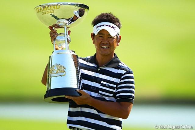 2012年 ダイヤモンドカップゴルフ 最終日 藤田寛之 後半は苦しんだが、終わってみれば2位に3打差。今季2勝目を手にした藤田寛之