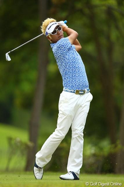 2012年 ダイヤモンドカップゴルフ 最終日 ジェイ・チョイ スタートから3連続バーディで優勝争いに加わりましたが、後半に崩れてしまいました。2週連続優勝ならず。