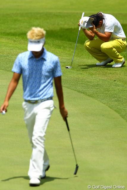 2012年 ダイヤモンドカップゴルフ 最終日 藤本佳則 今日はJ.チョイと直接対決。昨日あれだけ入っていたパットが今日は決まらず。