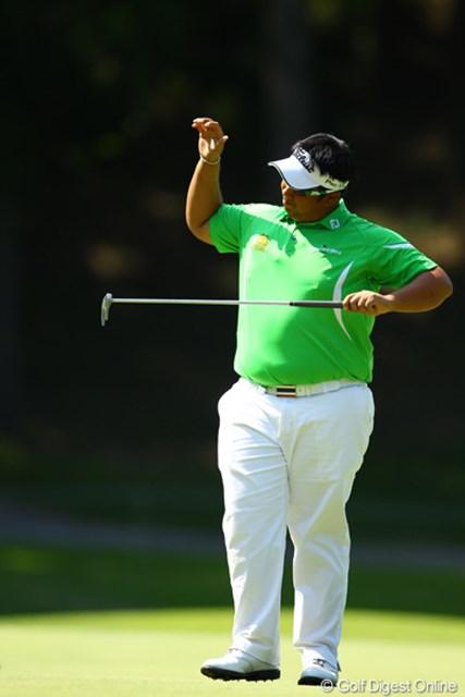 2012年 ダイヤモンドカップゴルフ 最終日 キラデク・アフィバーンラト 14・15・16番の3連続ボギーで万事休す。