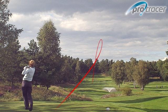 「ツアー選手権シティバンク宍戸」、JGTOが10番Hをインターネット中継 プロトレーサーの採用により、選手の弾道の特徴、攻め方、弾道軌跡を確認でき、迫力ある選手のスイングを楽しめる。