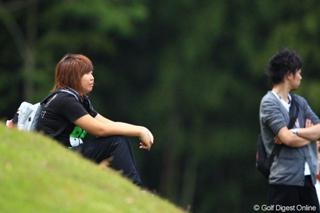 2012年 日本ゴルフツアー選手権 Citibank Cup Shishido Hills 初日 向山唯 女子プロ発見!向山唯プロ