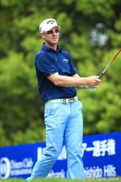 2012年 日本ゴルフツアー選手権 Citibank Cup Shishido Hills 初日 ブレンダン・ジョーンズ 安定したプレーで首位猛追のバーディを量産。「賞金王よりも、1つでも優勝を重ねることが目標」のブレンダン
