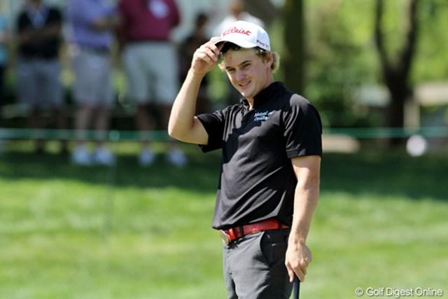 小柄だが正確無比なゴルフが信条。アメリカ版ルーク・ドナルドといった雰囲気。-2(11位タイ)で初日終了