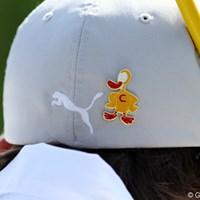 ダックは白血病と戦う選手ジャロッド・ライル(豪)を応援するためのマスコットだ 2012年 ザ・メモリアルトーナメント 初日  プーマ&ダック