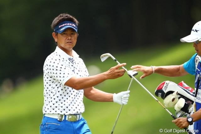 2012年 日本ゴルフツアー選手権 Citibank Cup Shishido Hills 2日目  藤田寛之 この日使用したのは、リッキー・ファウラーがPGAツアーで優勝した時に使用していた同モデルのセンターシャフトタイプ