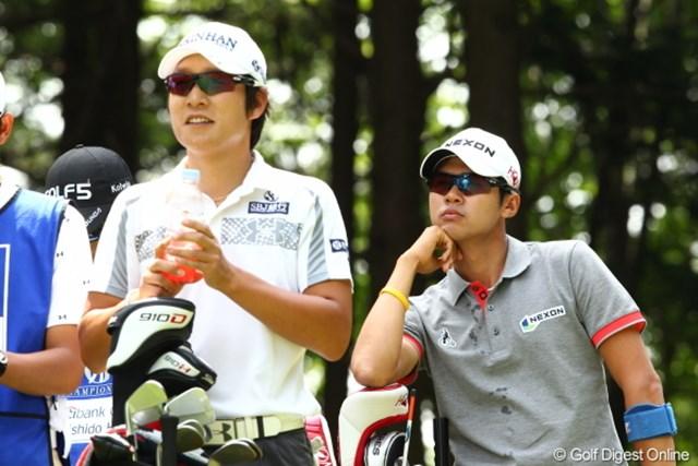 2012年 日本ゴルフツアー選手権 Citibank Cup Shishido Hills 3日目 キム・キョンテ キム・ドフン 金VS金の対決は金プロの勝利…ってどっちだよ。