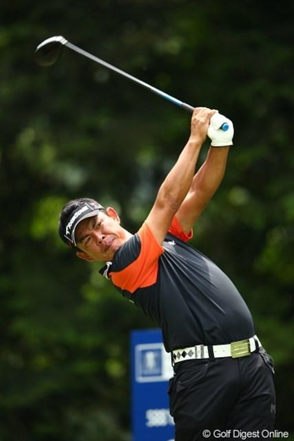 2012年 日本ゴルフツアー選手権 Citibank Cup Shishido Hills 3日目 平塚哲二 ベルトをターゲットに向けるなんて古い!お腹を向けるんだ!