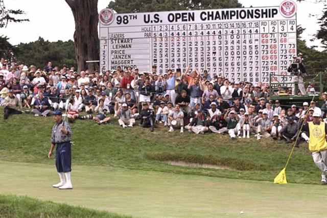 98年、オリンピッククラブでの全米オープンで悲劇を見たペイン・スチュワート ※画像は最終日から(Vincent Laforet/Getty Images)