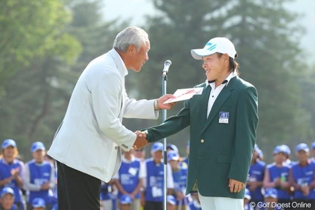 2012年 日本ゴルフツアー選手権 Citibank Cup Shishido Hills 最終日 青木功、藤本佳則 青木キャプテン、見ましたか。藤本佳則がメジャーでツアー初優勝!