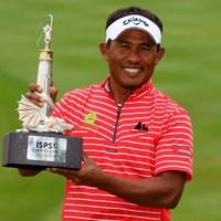欧州ツアー通算5勝目!ついにアジア地区以外で勝利を掴んだトンチャイ・ジェイディ(Warren Little/Getty Images) 2012年 ISPSハンダ・ウェールズ・オープン 最終日 トンチャイ・ジェイディ