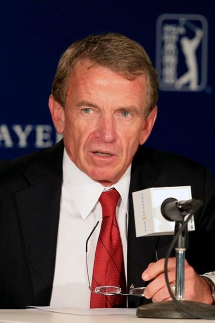 ザ・プレーヤーズ選手権の公式会見で、PGAツアーのコミッショナー、ティム・フィンチェム氏は女性会員問題について見解を述べた。(David Cannon/Getty Images)