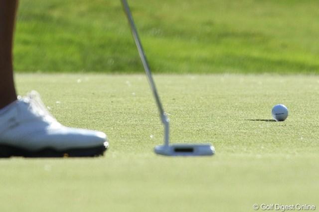 2012年 ウェグマンズLPGA選手権 初日 コース 全体的にはスコアが伸びず、我慢のゴルフを強いられている。パットも入りそうで入らない…